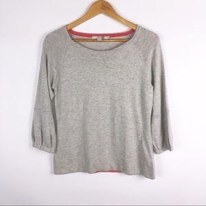 Boden Lightweight Gray Sweater Size: 8